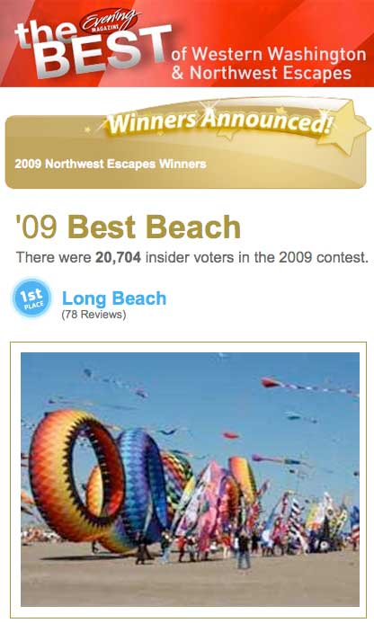 Long Beach Voted Best Beach in Washington