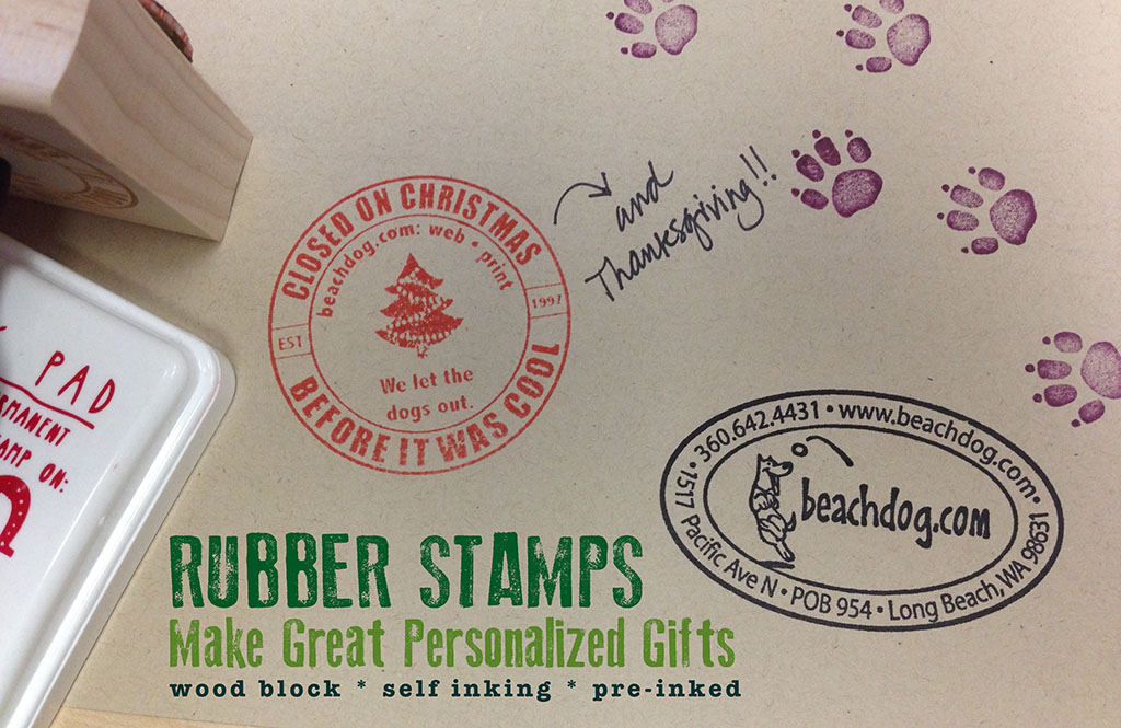 Custom Rubber Stamps make great gifts