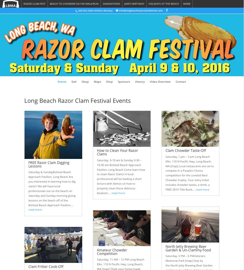 long beach razor clam festival