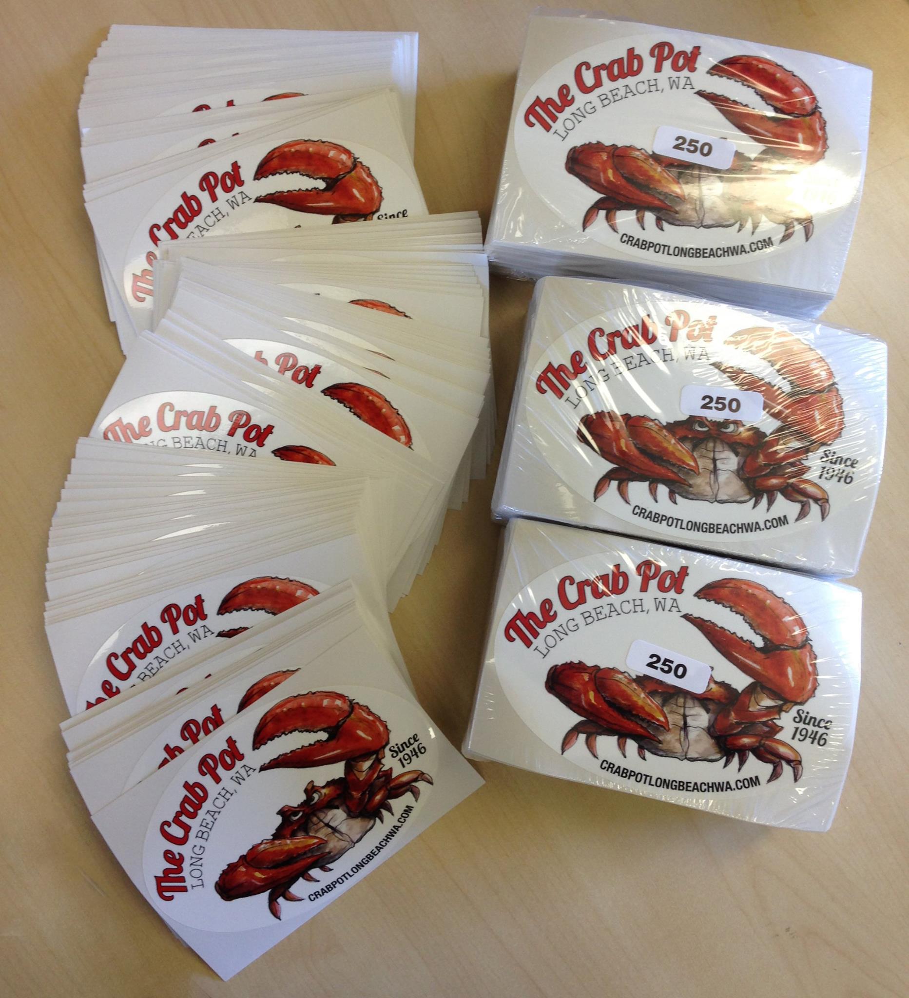 crab pot decal