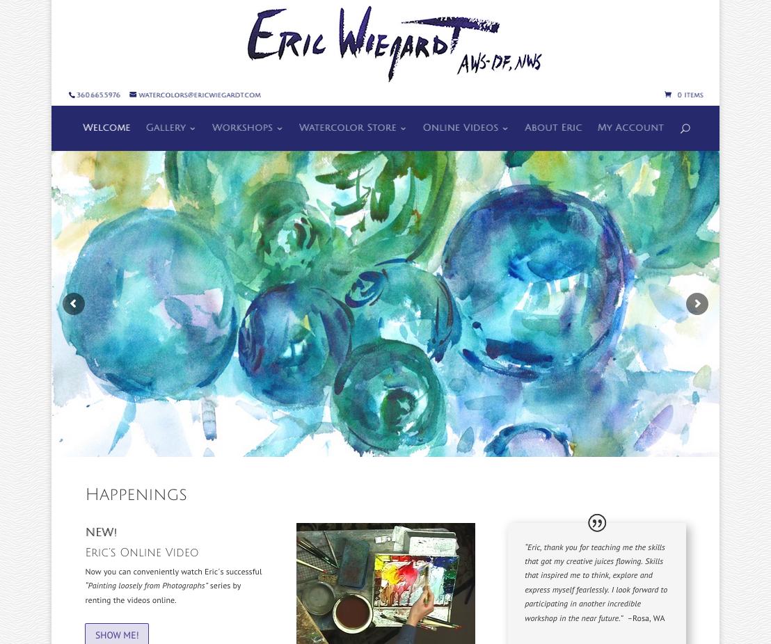 Eric Wiegardt site revamp
